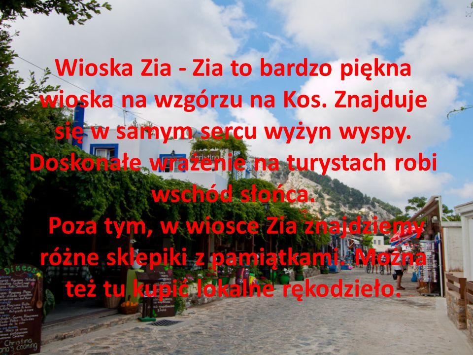Wioska Zia - Zia to bardzo piękna wioska na wzgórzu na Kos.