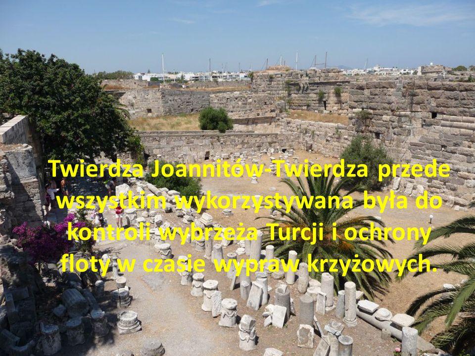 Twierdza Joannitów-Twierdza przede wszystkim wykorzystywana była do kontroli wybrzeża Turcji i ochrony floty w czasie wypraw krzyżowych.