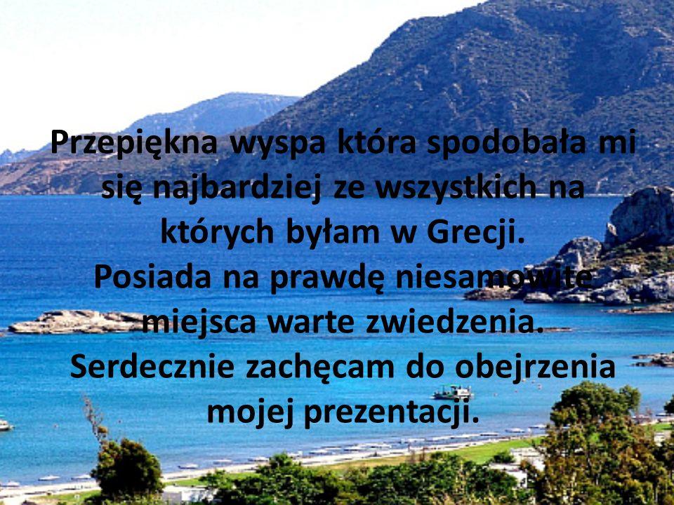 Przepiękna wyspa która spodobała mi się najbardziej ze wszystkich na których byłam w Grecji.