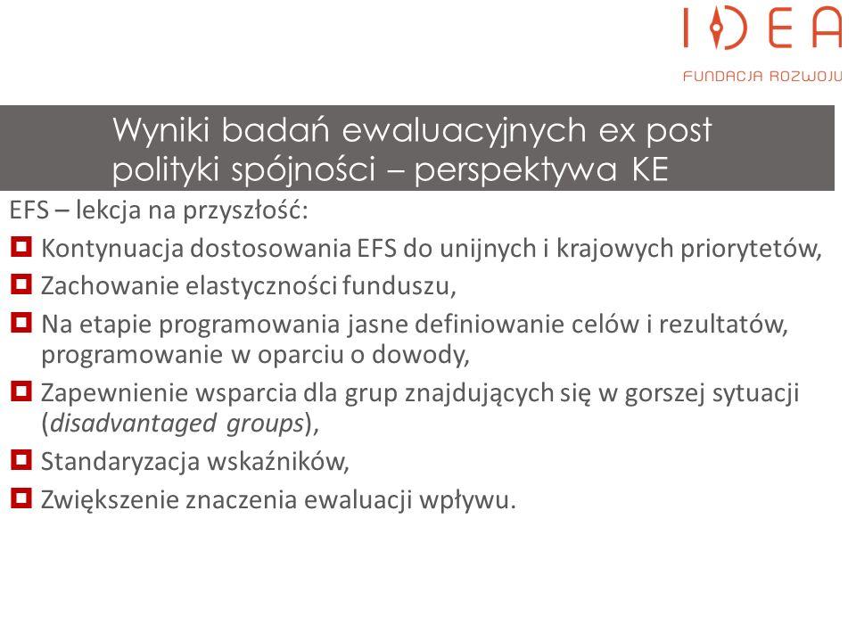 Wybrane efekty Polityki Spójności 07-13 w świetle ewaluacji PL