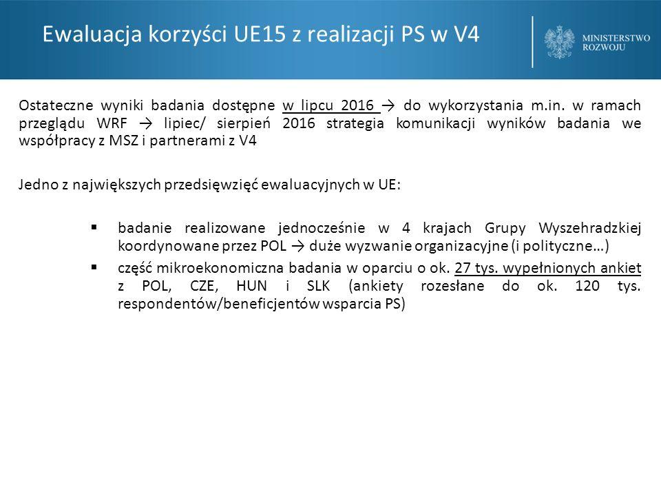 Ewaluacja korzyści UE15 z realizacji PS w V4