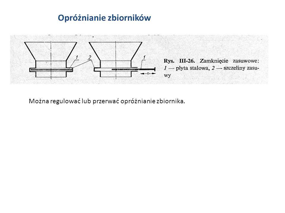 Opróżnianie zbiorników Można regulować lub przerwać opróżnianie zbiornika.