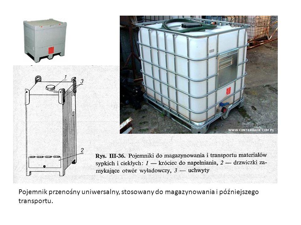 Pojemnik przenośny uniwersalny, stosowany do magazynowania i późniejszego transportu.