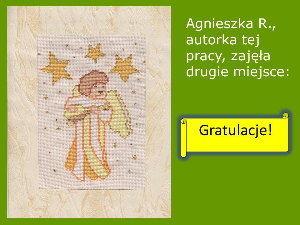 Agnieszka R., autorka tej pracy, zajęła drugie miejsce: Gratulacje!