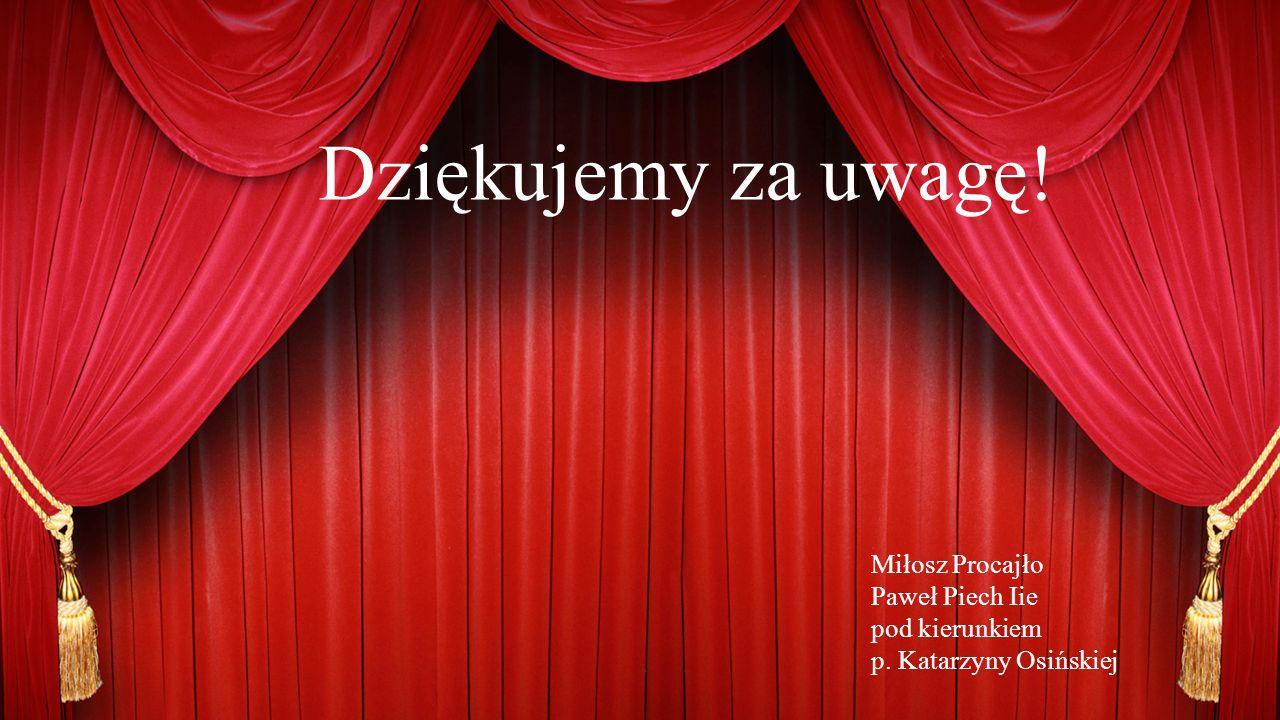 Dziękujemy za uwagę! Miłosz Procajło Paweł Piech Iie pod kierunkiem p. Katarzyny Osińskiej
