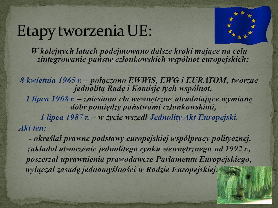 Kolejnym, jak dotychczas najbardziej dalekosiężnym przedsięwzięciem w historii integracji europejskiej stał się podpisany 2 lutego 1992 r.