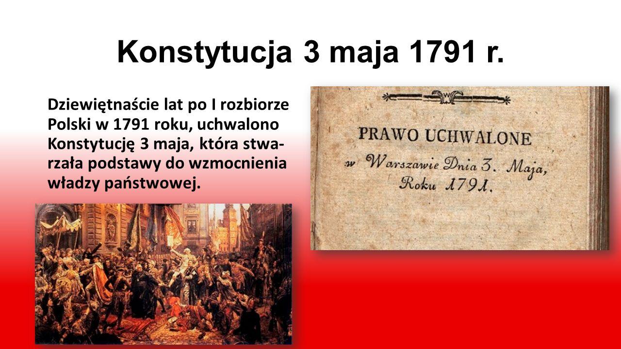 Pod Zaborami… Z osłabienia Polski korzystali władcy sąsiednich mocarstw: Prus, Rosji i Austrii, dążąc do całkowitego podporządkowa- nia sobie Rzeczypo