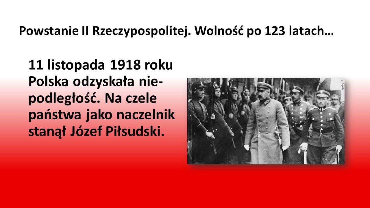 Droga do niepodległości… Latem 1914 roku w Europie rozpoczęła się wielka wojna, nazwana później I wojną światową. Po jednej stronie znalazły się Niemc