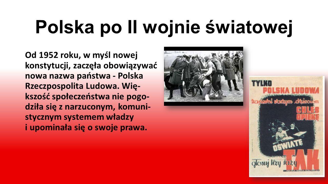 Koniec wojny Latem 1944 roku rozpoczęło się wyzwalanie ziem polskich przez Armię Czerwoną. Nie przyniosło ono jednak pełnej wolności.