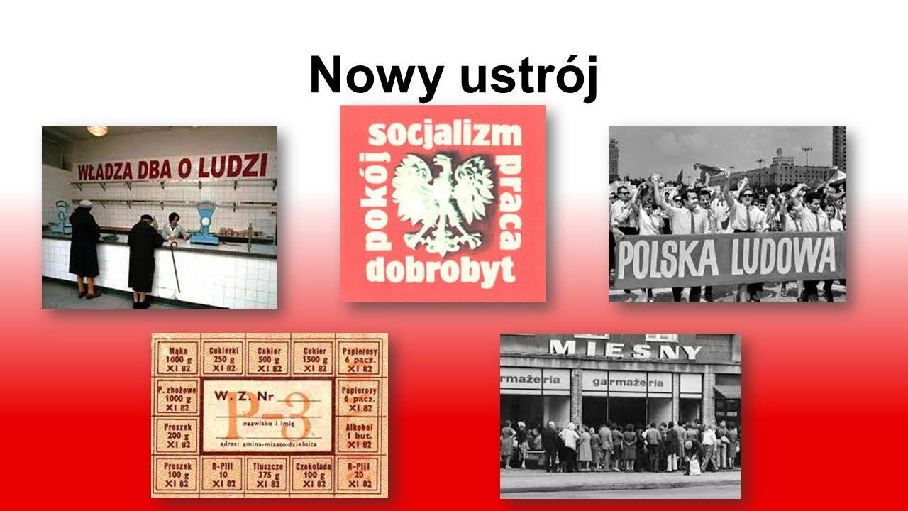 Polska po II wojnie światowej Od 1952 roku, w myśl nowej konstytucji, zaczęła obowiązywać nowa nazwa państwa - Polska Rzeczpospolita Ludowa. Wię- kszo