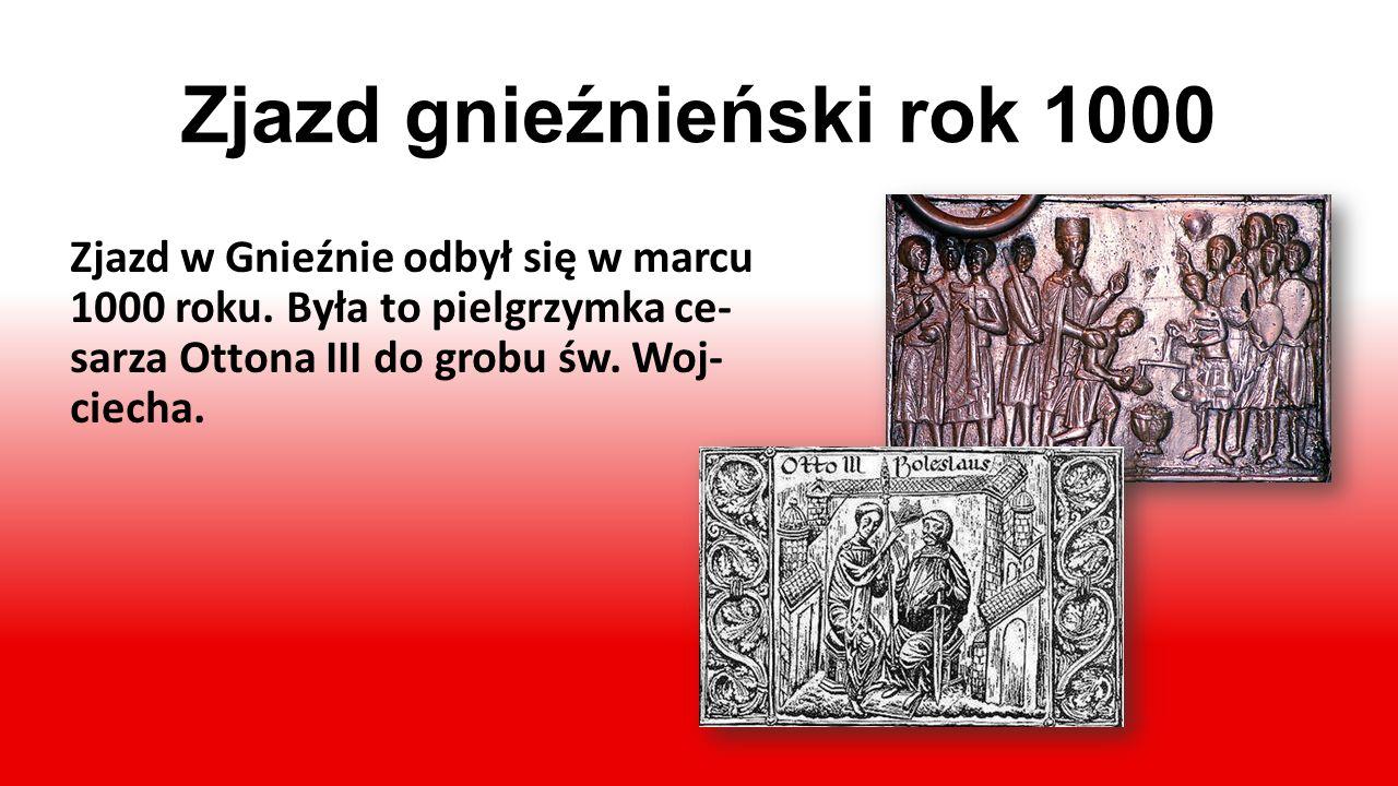 Chrzest Polski w 966 r. W 966r. Mieszko I przyjął chrzest nazywany poto- cznie chrztem Polski. Roz- poczęło to proces chry- stianizacji ziem polskich.
