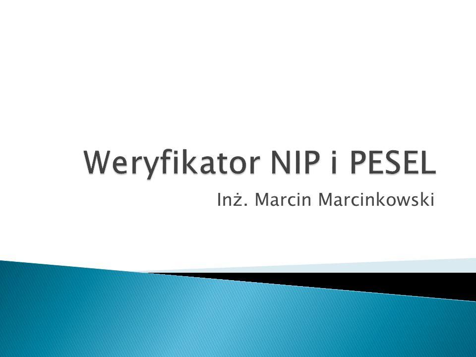 Inż. Marcin Marcinkowski