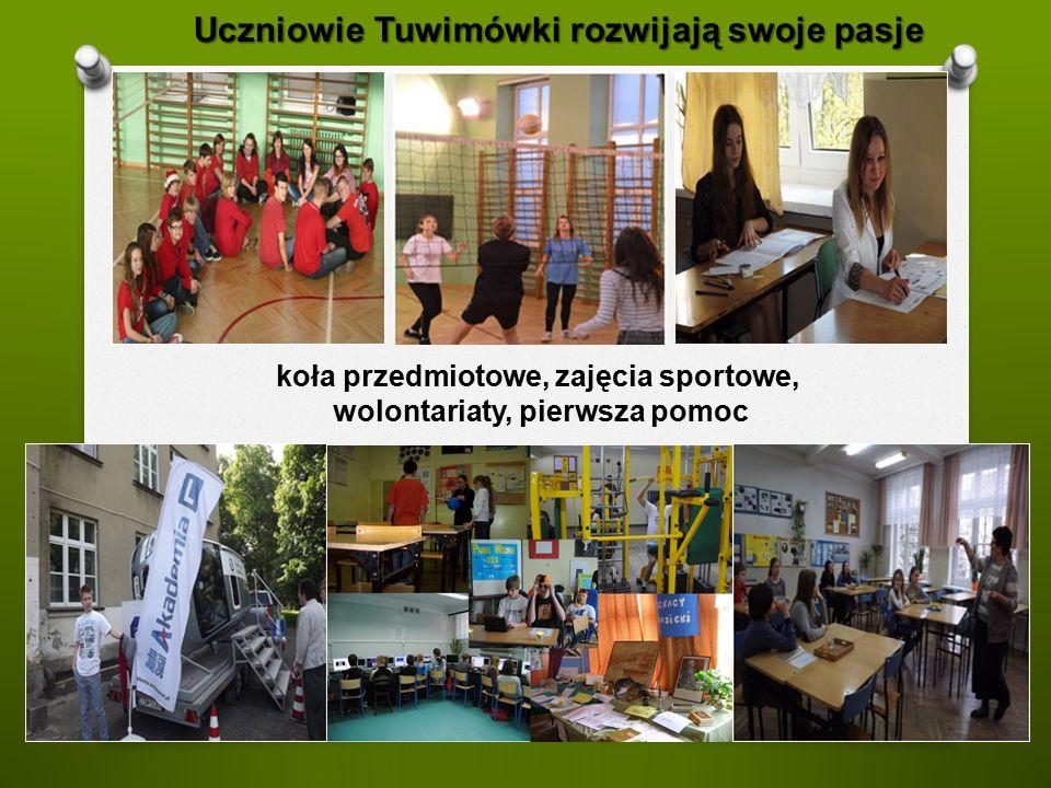 Uczniowie Tuwimówki rozwijają swoje pasje koła przedmiotowe, zajęcia sportowe, wolontariaty, pierwsza pomoc