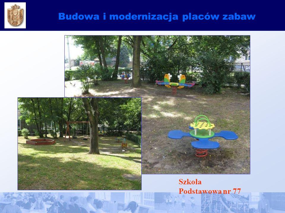 Budowa i modernizacja placów zabaw Szkoła Podstawowa nr 77