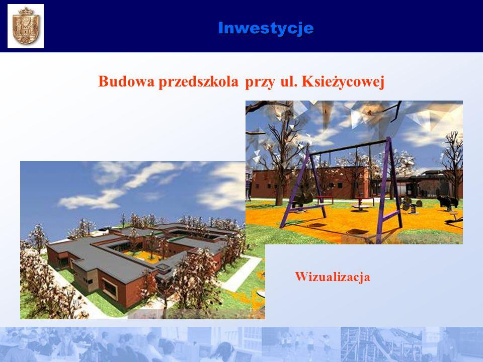 Inwestycje Budowa przedszkola przy ul. Ksieżycowej Wizualizacja