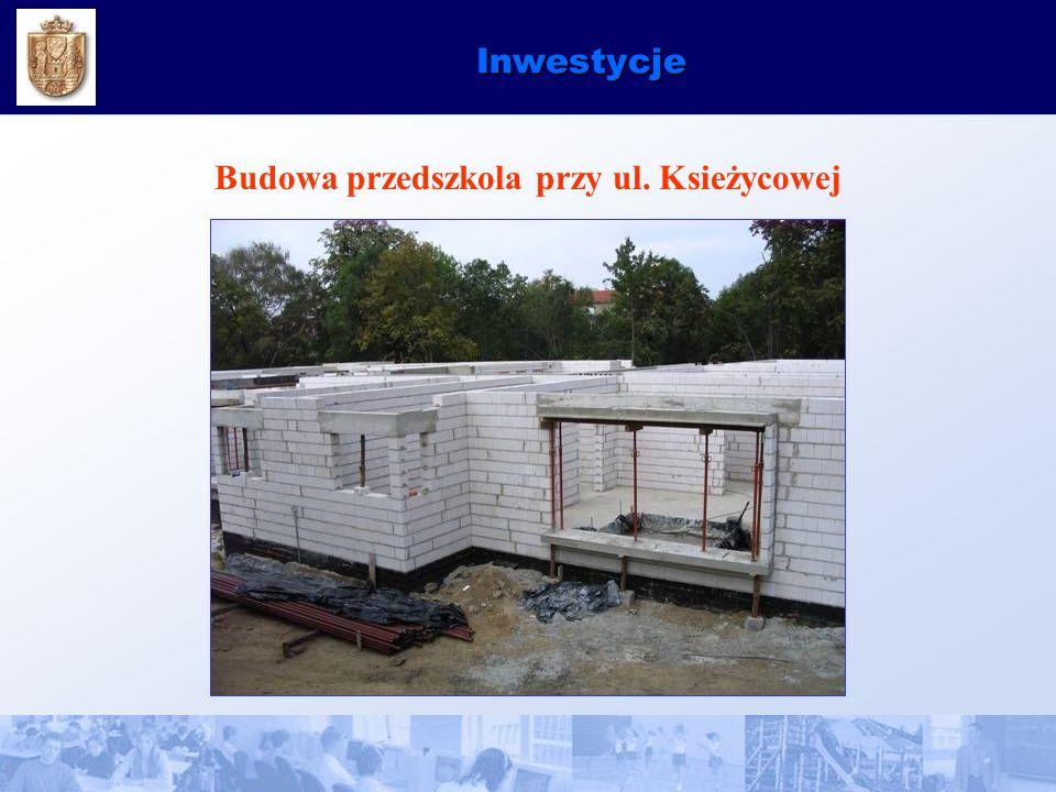 Inwestycje Budowa przedszkola przy ul. Ksieżycowej