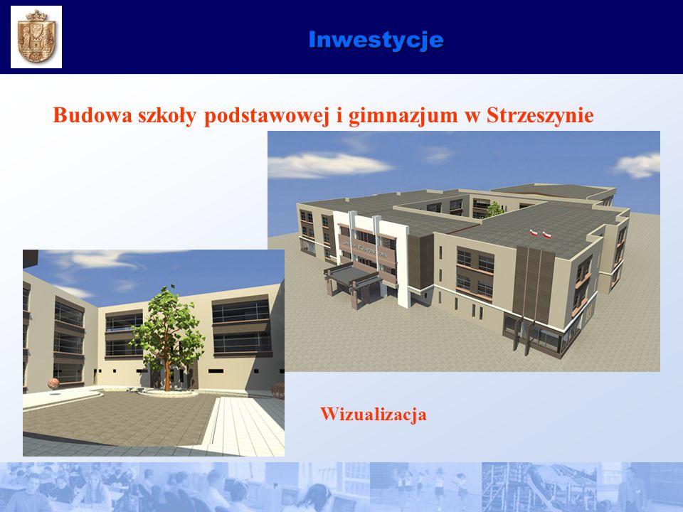 Inwestycje Budowa szkoły podstawowej i gimnazjum w Strzeszynie Wizualizacja