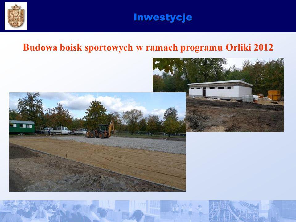 Inwestycje Budowa boisk sportowych w ramach programu Orliki 2012