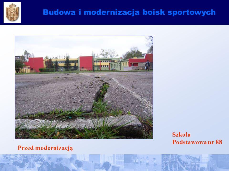 Budowa i modernizacja boisk sportowych Szkoła Podstawowa nr 88 Przed modernizacją