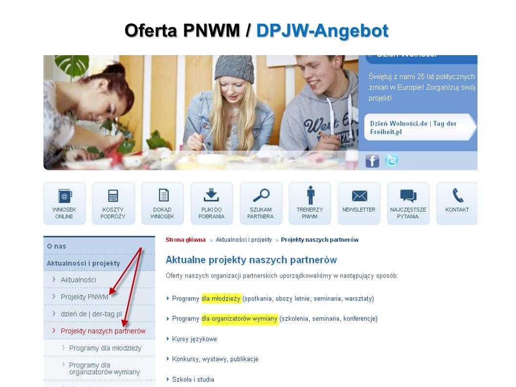 Oferta PNWM / DPJW-Angebot