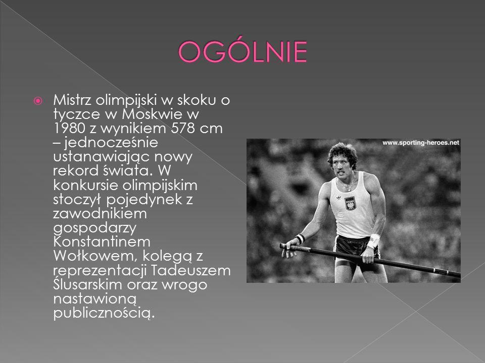  Historia człowieka, sportowca, jego zwycięstw i porażek, ale też historia najsłynniejszego gestu w dziejach polskiego sportu i jednego z istotniejszych w historii Polski.
