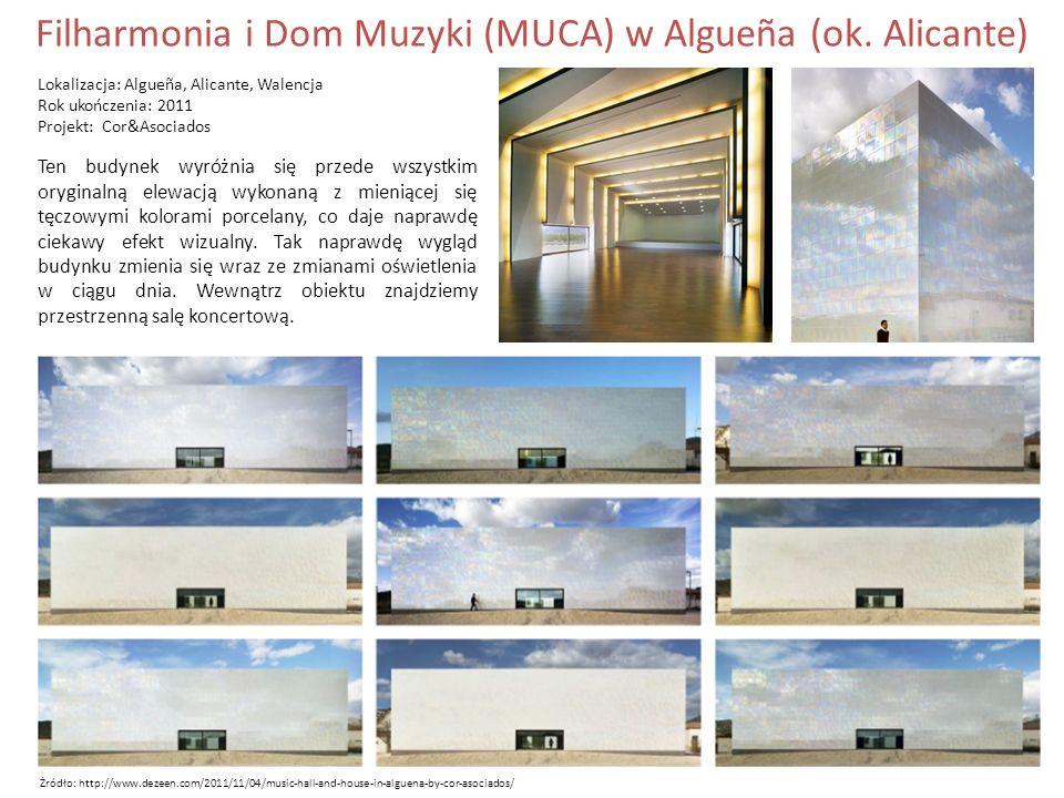 Filharmonia i Dom Muzyki (MUCA) w Algueña (ok.
