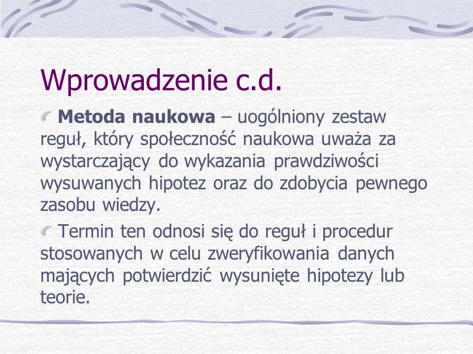 Wprowadzenie c.d.