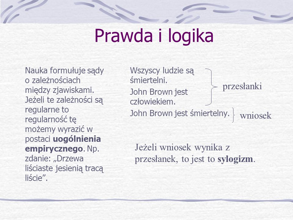 Prawda i logika c.d.