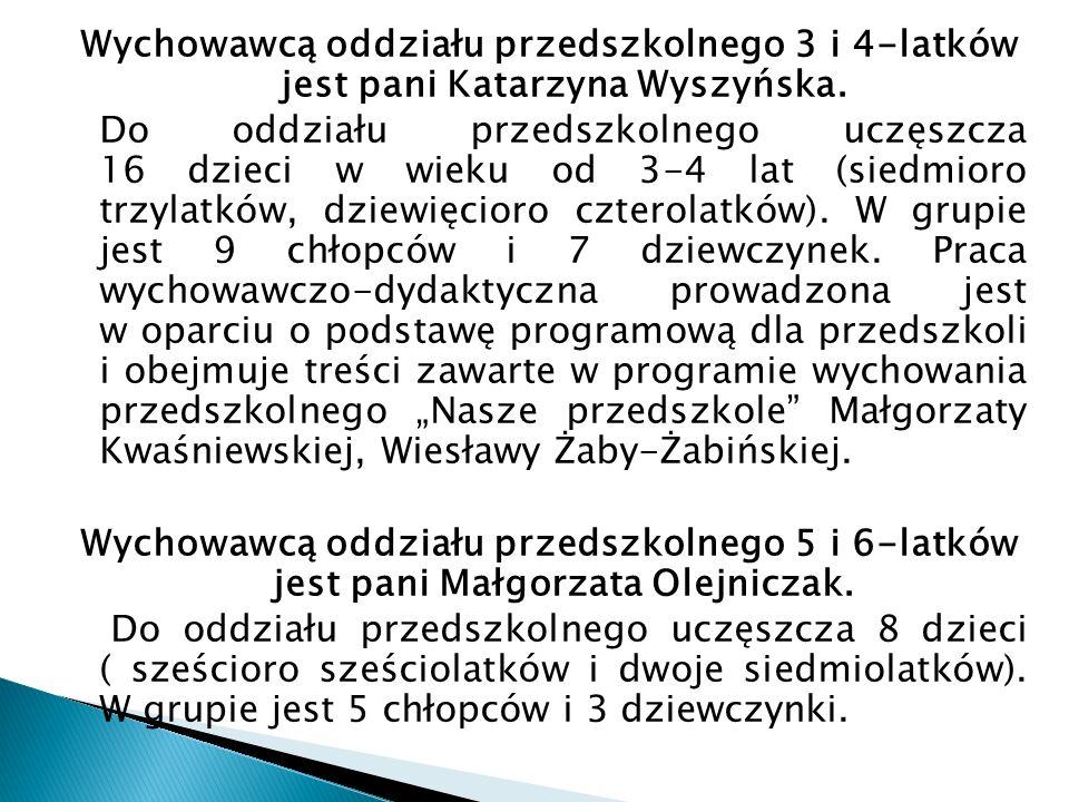 Klasa I Wychowawcą jest pani Ewa Gawryszczak.Klasa liczy 9 uczniów (6 dziewczynek i 3 chłopców).