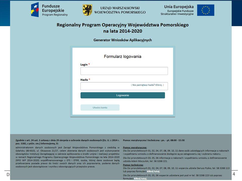 Regionalny Program Operacyjny Województwa Pomorskiego na lata 2014-2020 DEFS 5