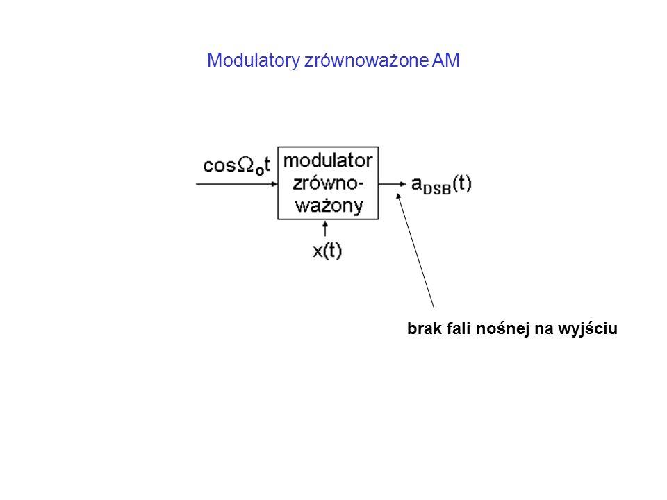 Modulatory zrównoważone AM brak fali nośnej na wyjściu