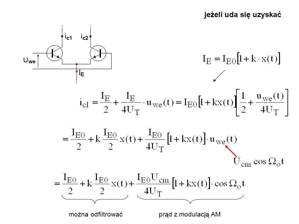 Modulatory kluczowane po filtracji zbędnych składowych… i to jest DSB-SC.