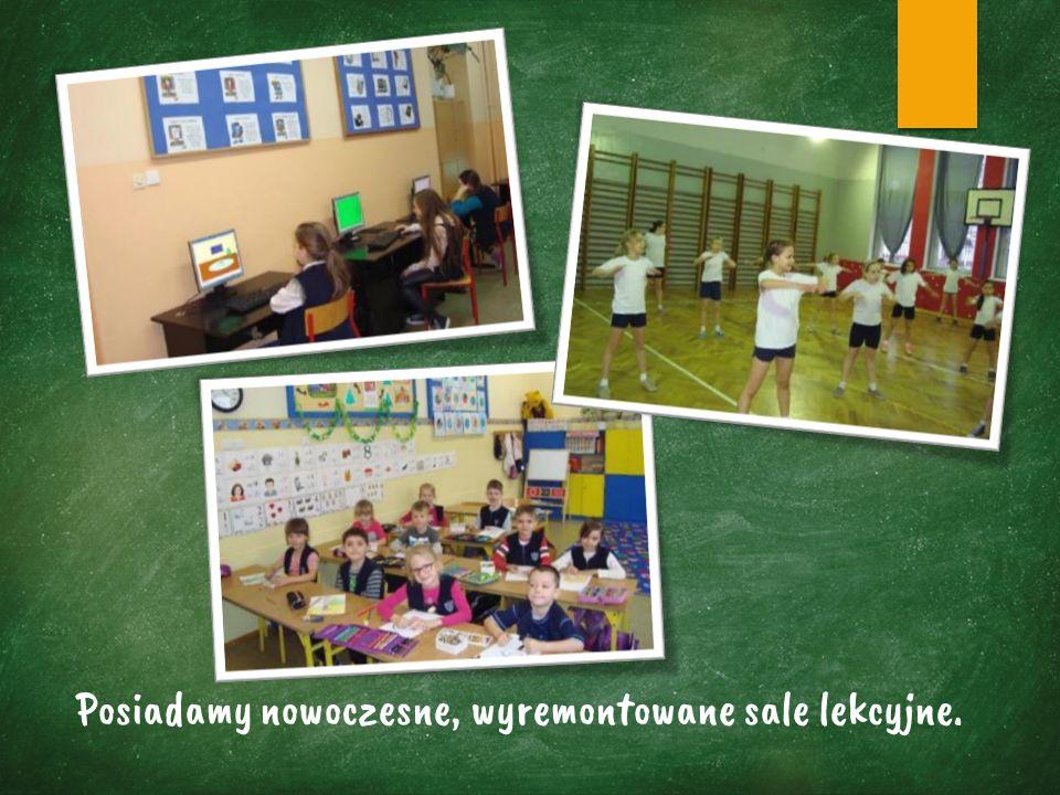 Posiadamy nowoczesne, wyremontowane sale lekcyjne.