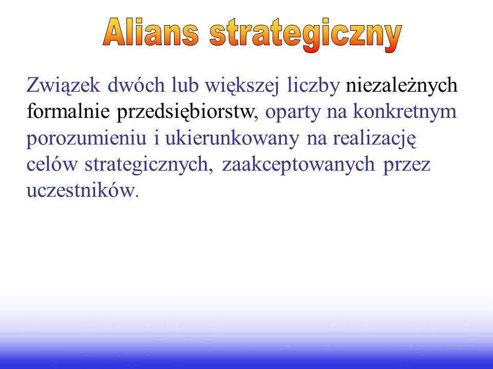 Związek dwóch lub większej liczby niezależnych formalnie przedsiębiorstw, oparty na konkretnym porozumieniu i ukierunkowany na realizację celów strategicznych, zaakceptowanych przez uczestników.
