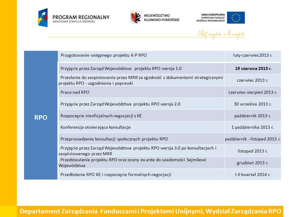 RPO Przygotowanie wstępnego projektu K-P RPOluty-czerwiec2013 r.