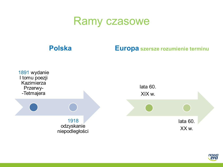 Ramy czasowe PolskaEuropa szersze rozumienie terminu lata 60.