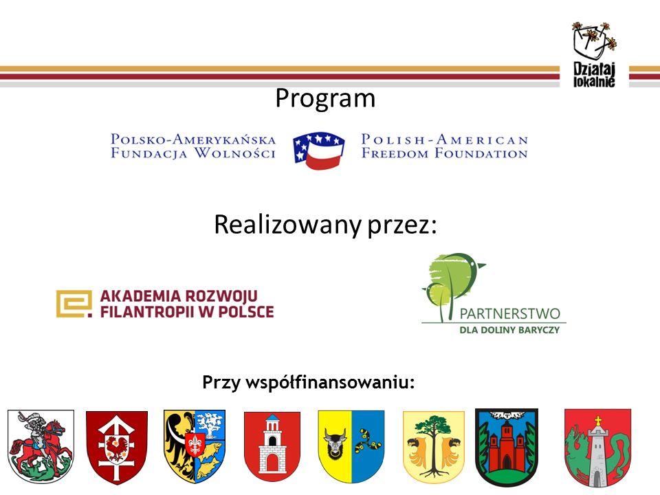 Program Realizowany przez: Przy współfinansowaniu: