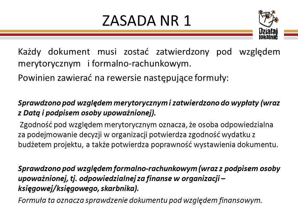 Każdy dokument musi zostać zatwierdzony pod względem merytorycznym i formalno-rachunkowym.