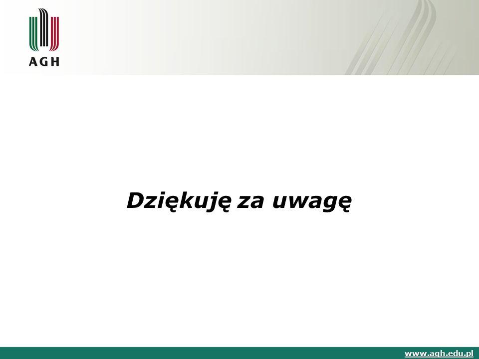 www.agh.edu.pl Dziękuję za uwagę