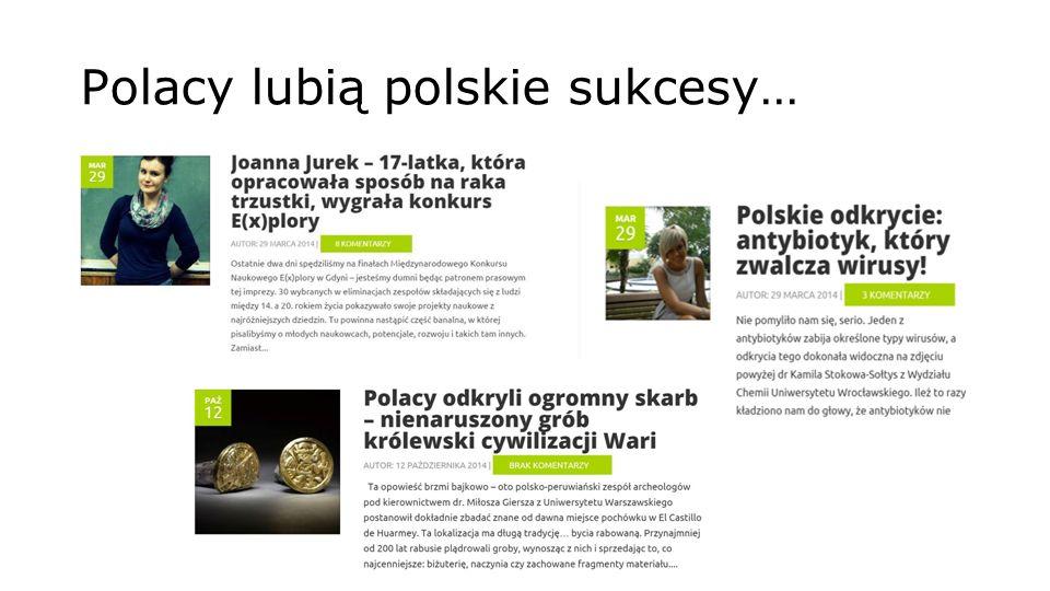 Polacy lubią polskie sukcesy…