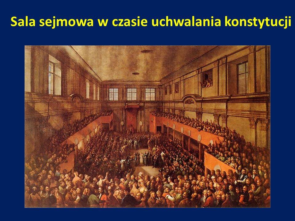 Sala sejmowa w czasie uchwalania konstytucji