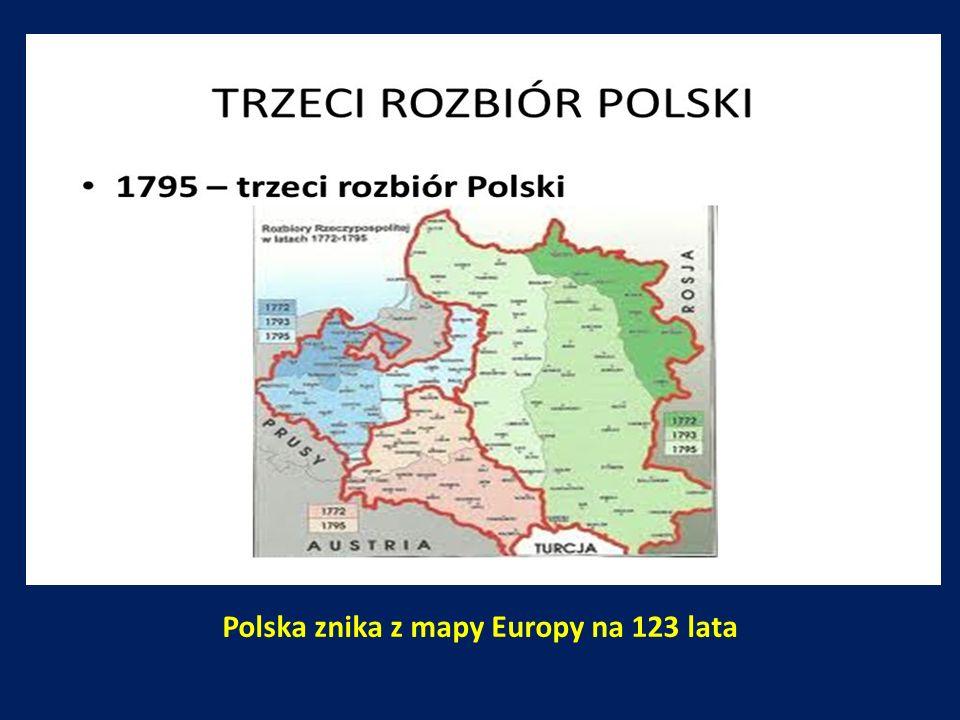 Polska znika z mapy Europy na 123 lata