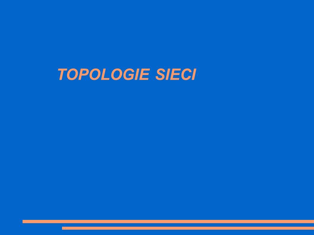Topologia sieci- określa sposób połączenia urządzeń sieciowych ze sobą.