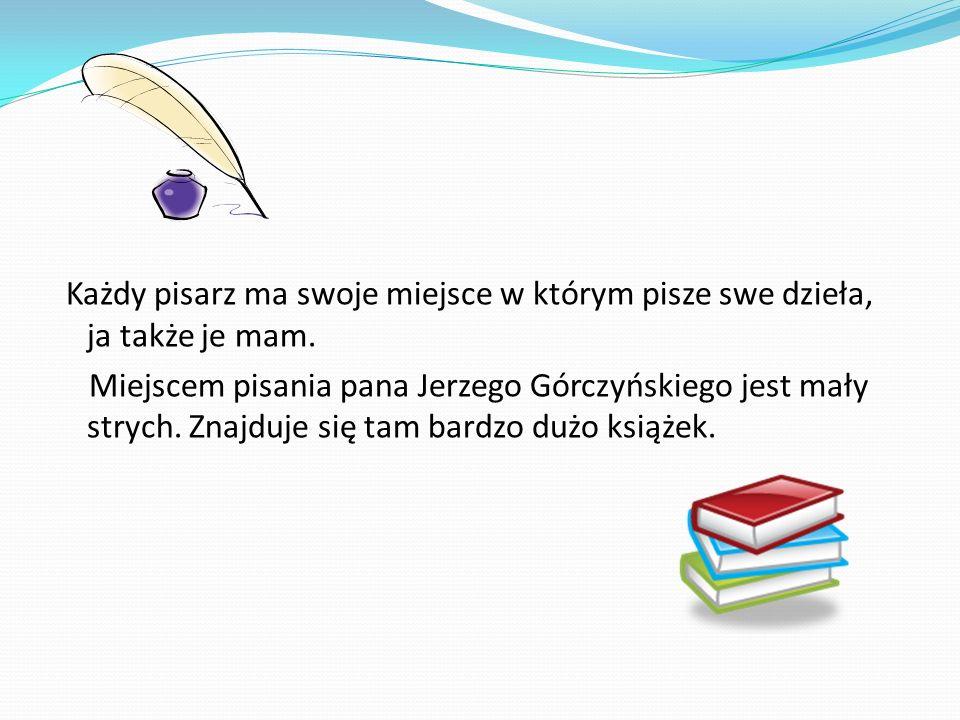 Książki Jerzego Górczyńskiego Opublikował: utwory prozą - Opowiadania (1978) - Ktoś po drugiej stronie (1989) - Zaklinacze ogrodów (2002) oraz zbiorki poetyckie : - Przeczucie bitwy (1979) - Granice (1995) - Manifesty (1998)