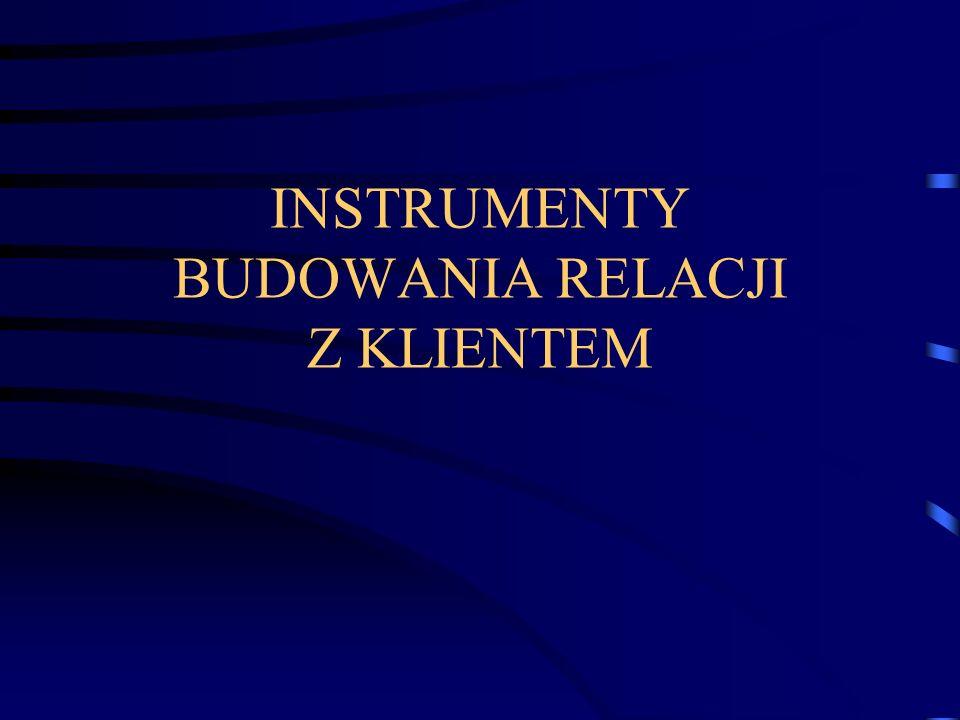 INSTRUMENTY BUDOWANIA RELACJI Z KLIENTEM