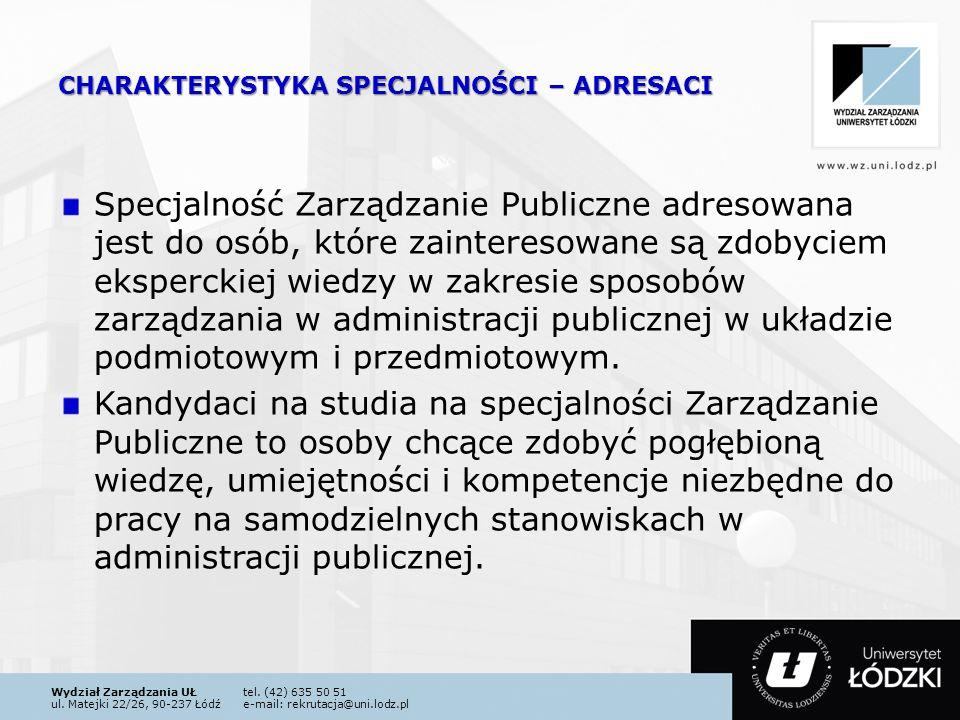 Wydział Zarządzania UŁtel.(42) 635 50 51 ul.