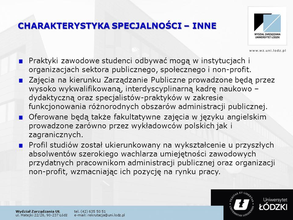 Wydział Zarządzania UŁtel. (42) 635 50 51 ul.