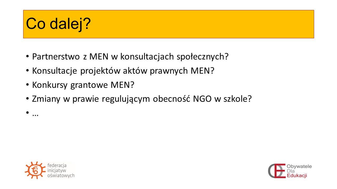Co dalej. Partnerstwo z MEN w konsultacjach społecznych.