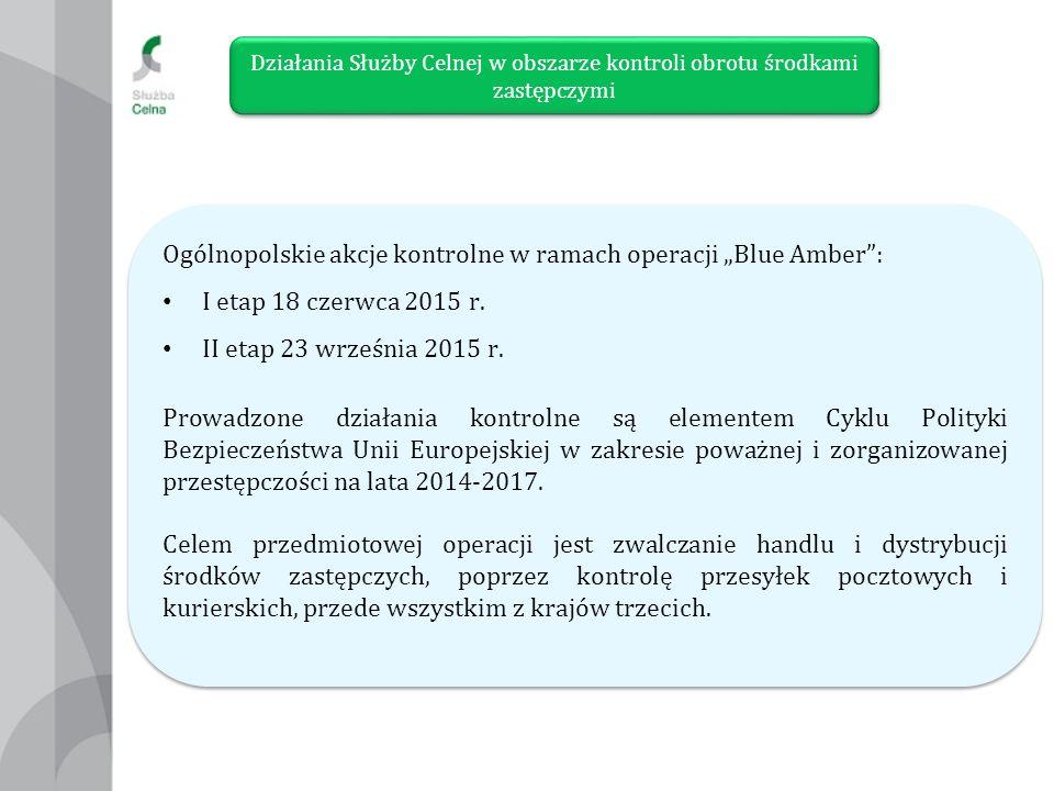 """Ogólnopolskie akcje kontrolne w ramach operacji """"Blue Amber : I etap 18 czerwca 2015 r."""