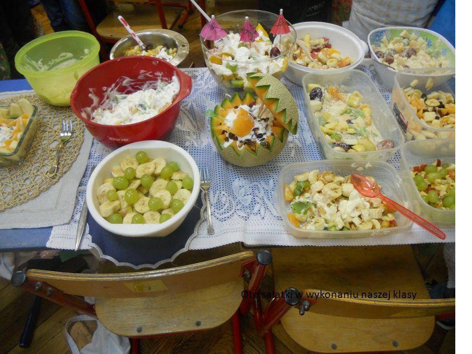 Oto sałatki w wykonaniu naszej klasy